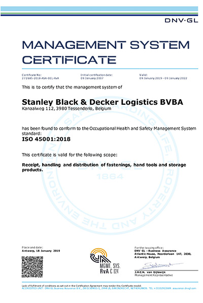 1 Signed Stanley BD 272685 2018 ASA BEL RvA UK RC 2019 Blockchain